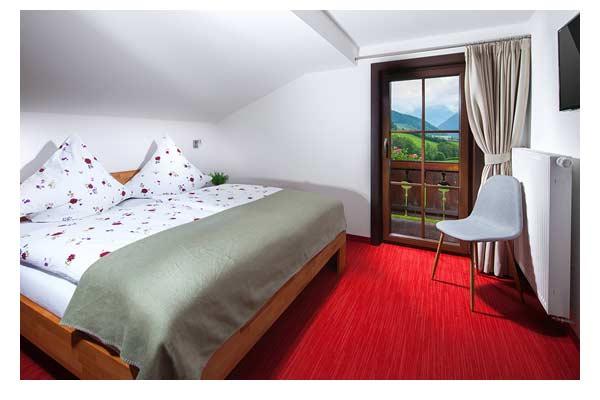 Schlafzimmer im Ferienhaus Hasensprung